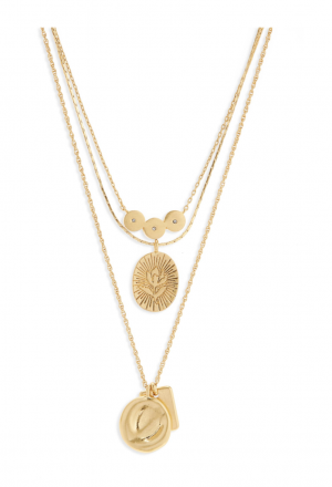 Madewell Flower Etched Necklace