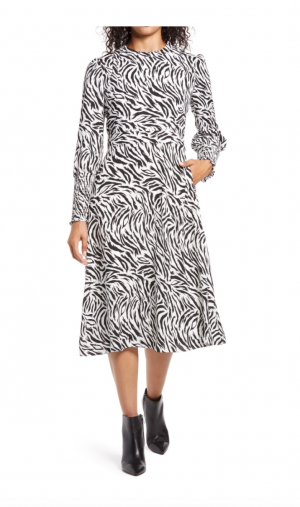 Halogen Tie Back Long Sleeve Dress (4 colors/prints)